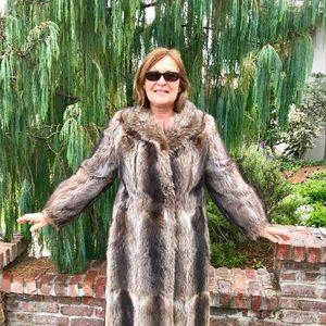 Full Length Fluffy Raccoon Fur Coat From Germany
